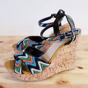 Soda Kristen chunky croched cork wedge NEW size 11